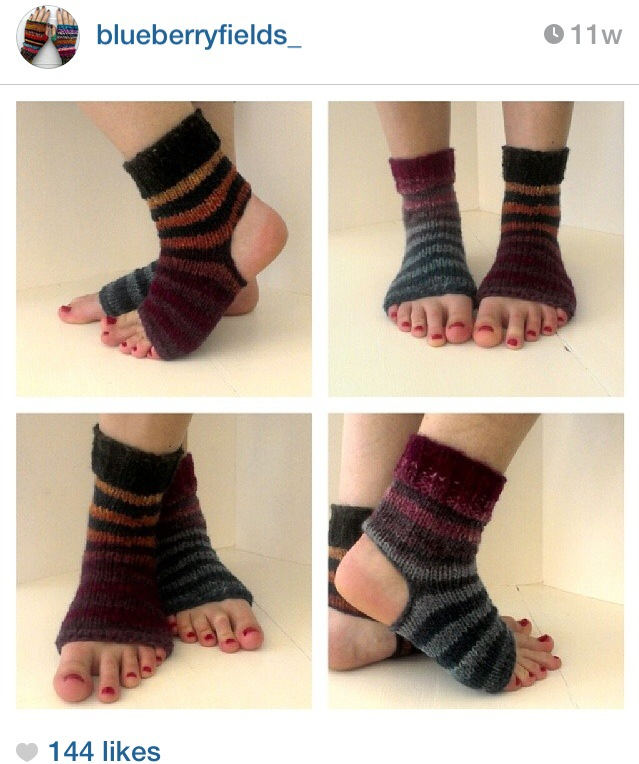 Free Pattern- Simple Yoga Socks | knitsbywhit
