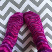 Purple Jaywalker Socks