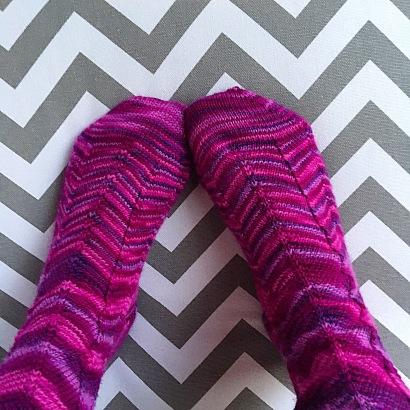 Purple Jaywalker Socks