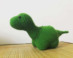 Crochet dinosaur toy